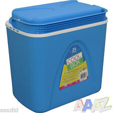 24L COOLBOX LARGE BLUE COOLER BOX CAMPING PICNI BEACH ICE FOOD INSULATED LITRE
