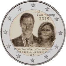 Luxemburg  2015  2 euro commemo  Groothertog Henri   UNC uit de rol !!!