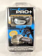 NEW Brain Pad Pro+ Mouth Guard Protector, Blk/gry,Junior U-11,Brainpad, Lacrosse