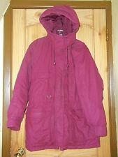 Eddie Bauer Wine Puffy Down Coat w/ Detachable Hood, Womens L