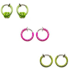 Fake Piercing Non Piercing Belly Ear Nose Lip Cartilage Rings 6 pack