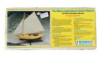NIP The Muscongus Bay Lobster Smack Wood Model Sail BOAT KIT 951 MIDWEST PRODUCT