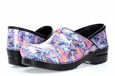 Women's 234551 Dansko Professional Floral Patent Leather Clog Shoes sz 41