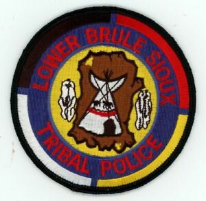 SOUTH DAKOTA SD LOWER BRULLE SIOUX TRIBAL POLICE NEW PATCH SHERIFF
