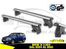 ALU130+BS08 BARRE PORTATUTTO FARAD IN ALLUMINIO BMW X3 E83 DAL 2004 AL 2010