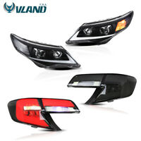 VLAND For Toyota Camry 2012-2014 LED DRL Headlights & Tail Lights Smoked Black