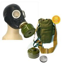 Black Size - 2. Medium Soviet Russian Military Gas mask GP-5 New FULL SET