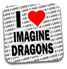 Me encanta Imagine Dragones Bebidas Posavasos-Regalo-Cumpleaños-Stocking Filler
