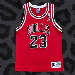 Vintage 90's Champion Chicago Bulls Michael Jordan Kids Jersey Size M 10-12