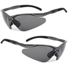 New XLoop Mens Womens Sports UV400 Sunglasses + Pouch - Gun Metal Frame