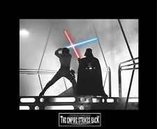 "Star Wars Esb Luke Skywalker vs Darth Vader 8""x10"" Picture -11""x14"" Black Matted"