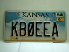 2007 KANSAS HAM RADIO CB License Plate KBQEEA March KS