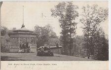 Iowa Ia Postcard 1907 CEDAR RAPIDS Bever Park Cannon Gazebo Kids
