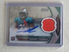2011 BOWMAN STERLING FOOTBALL DANIEL THOMAS AUTO/GAME USED ROOKIE CARD