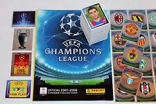 Panini Champions League 2007/2008 07/08 completamente frase complete set + Album Mint!