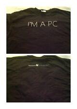 NWOT I'm A PC Windows Rare T Shirt Size Large Black