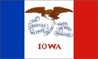 2'x3' Iowa US State Flag Outdoor Banner Pennant New Bold Eagle Seal Hawkeye 2x3