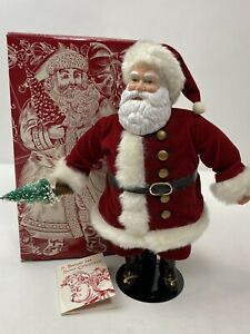 Avon Christmas With Santa Porcelain Doll 1989 St Nick Kitsch Vintage