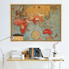 World Map Wall Decal Art Mural Sticker Removable Vinyl Home DIY Stickers