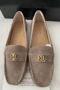 !!! Lauren Ralph Lauren 💗 Grey Loafer Shows Size 6 Euro 39 New !!!