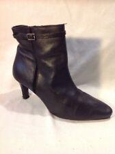Faith Black Ankle Leather Boots Size 5