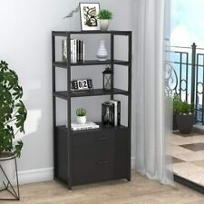 4 Tier File Cabinet2 Drawers Lateral Filing Cabinet For Legalletter A4 Size