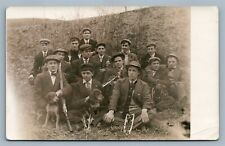 HUNTERS w/ RIFLE & DOGS ANTIQUE REAL PHOTO POSTCARD RPPC