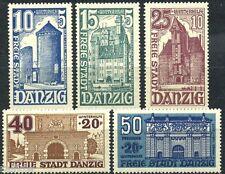 Danzig Bauwerke 1936** Michel 262-266 (S4142)