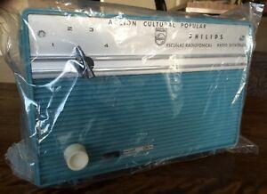 PHILIPS Vintage Retro Rockabilly 1962 Sutatenza B1X18T/59G Radio Table top (NOS)