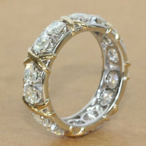 Fire Classic Round Cut White Topaz Silver Rose Gold Rings Size 6~10 Holiday Gift