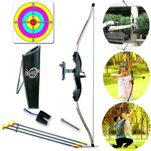 Bow and Arrow Set Target Kids Archery Hunting Shooting Kit Indoor Outdoor Toy