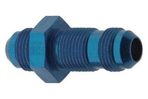Straight Bulkhead AN Adapter Fitting -8AN Blue Anodized Fragola 483208