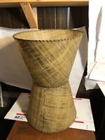 Vintage Pair of original MCM Tapered Parchment Lamp Shades  Mid-Century Modern
