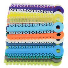 Dental Ligature Ties 1040 pcs Mixed Color Orthodontics Elastic Elastomeric