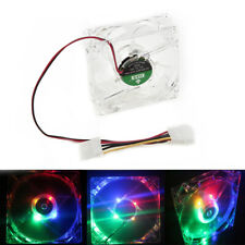 80mm 1900RPM RGB Neon LED Light PC Computer Cooling Case Fan CPU Cooler 12V New