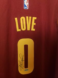 Kevin Love UDA Upper Deck Signed Autograph Cavaliers Swingman Away Jersey COA