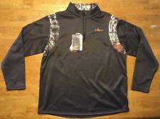 NWT Habit Men's Brown Camouflage 1/4 Zip Polyester Pullover - Size: XL