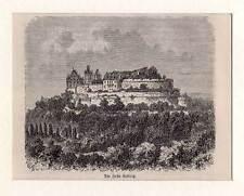 Veste-Coburg-Koburg-Bayern original Holzstich 1880