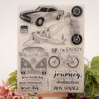 bus car transparent clear silicone stamp for diy scrapbooking photo decorat   fr