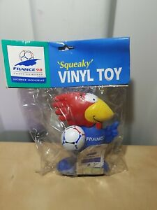 France 1998 World cup  - FOOTIX FRANCE 98 MASCOT SQUEAKY VINYL TOY RARE!! NEW!!!