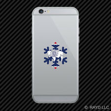 Wyoming Snowflake Cell Phone Sticker Mobile WY snow flake snowboard skiing skii