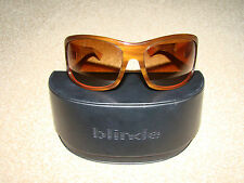 VGC RARE BLIDE SUNGLASSES. BROWN/SALMON PINK. HAND MADE IN JAPAN