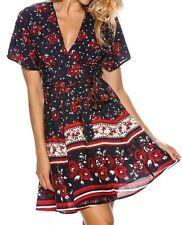 BNWT The Hidden Way Women's Floral Wrap Dress SIZE: 10
