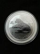 2010 2 oz .999 Fine Silver Australian Year Of The Tiger Coin Series II
