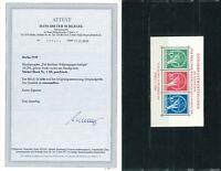 Luxus Berlin Währungsgeschädigten Block 1 III ** FA Schlegel BPP - Mi. 2500,-