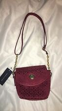NWT TOMMY HILFIGER Mini Satchel XBody Crossbody Bag Purse Red Retail $79