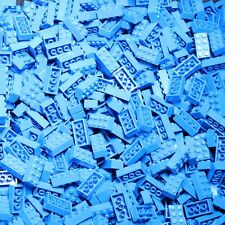 Brix Bulk Lot Sold by the Pound Color Sorted BLUE 2x4 Stud Building Bricks ONLY