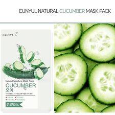 Korean Cosmetic Eunyul Facial Sheet Natural Moisture Mask Pack Cucumber 22ml x10