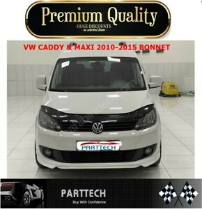 VW CADDY & MAXI 2010-2015 BONNET WIND STONE DEFLECTOR PROTECTOR GUARD NOT BRA