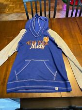 Men's Majestic Small New York Mets Hooded Sweatshirt Blue/gray Look!!